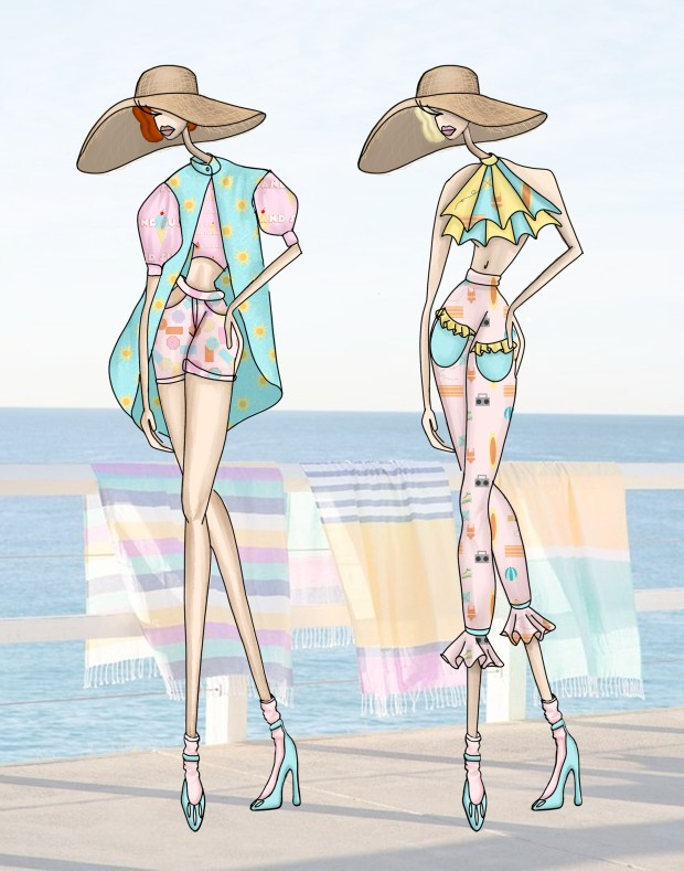 beach looks 1 and 2
