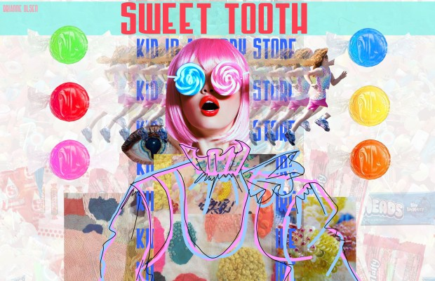 kid in a candy store mood board